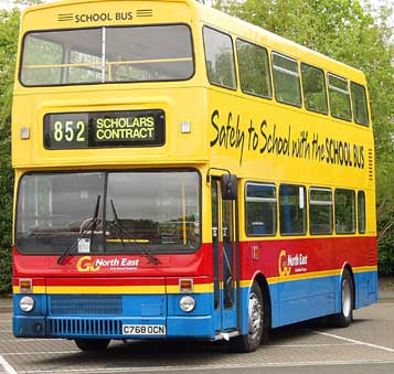 Old Fashioned UK compromise School Bus