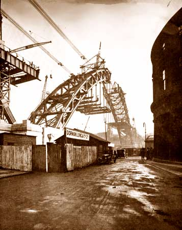 Building the bridge - 15th February, 1928