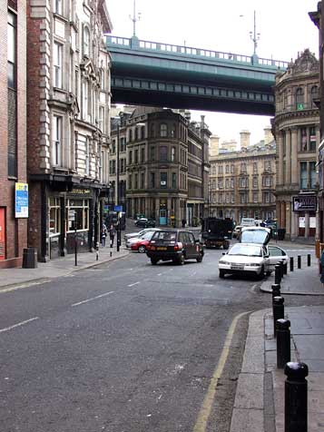 Side and Queen Street with roadway above