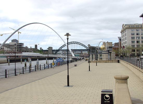 The modern riverside viewpoint